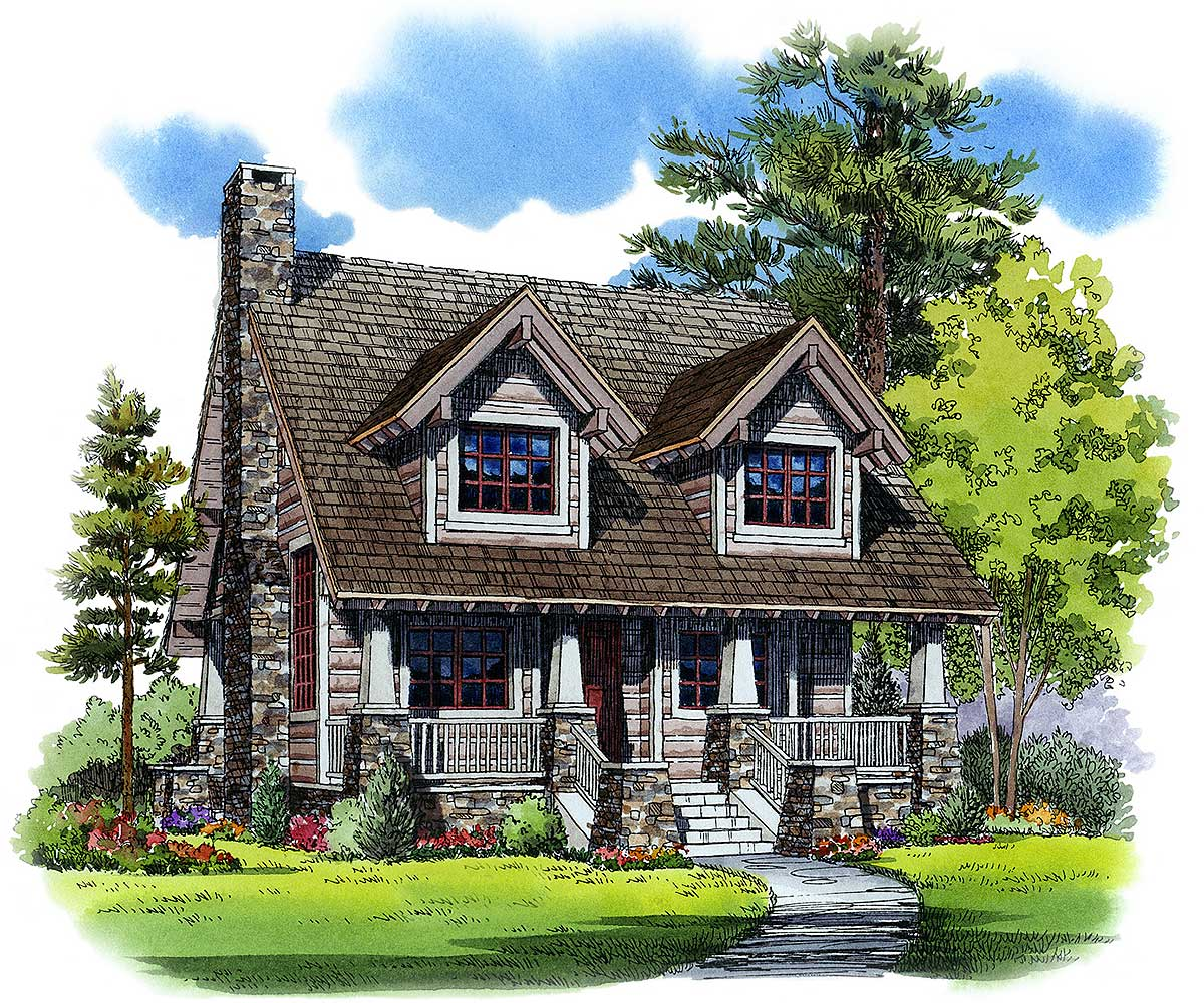 Home Design Ideas Floor Plans: Cozy Mountain House Plan - 11527KN