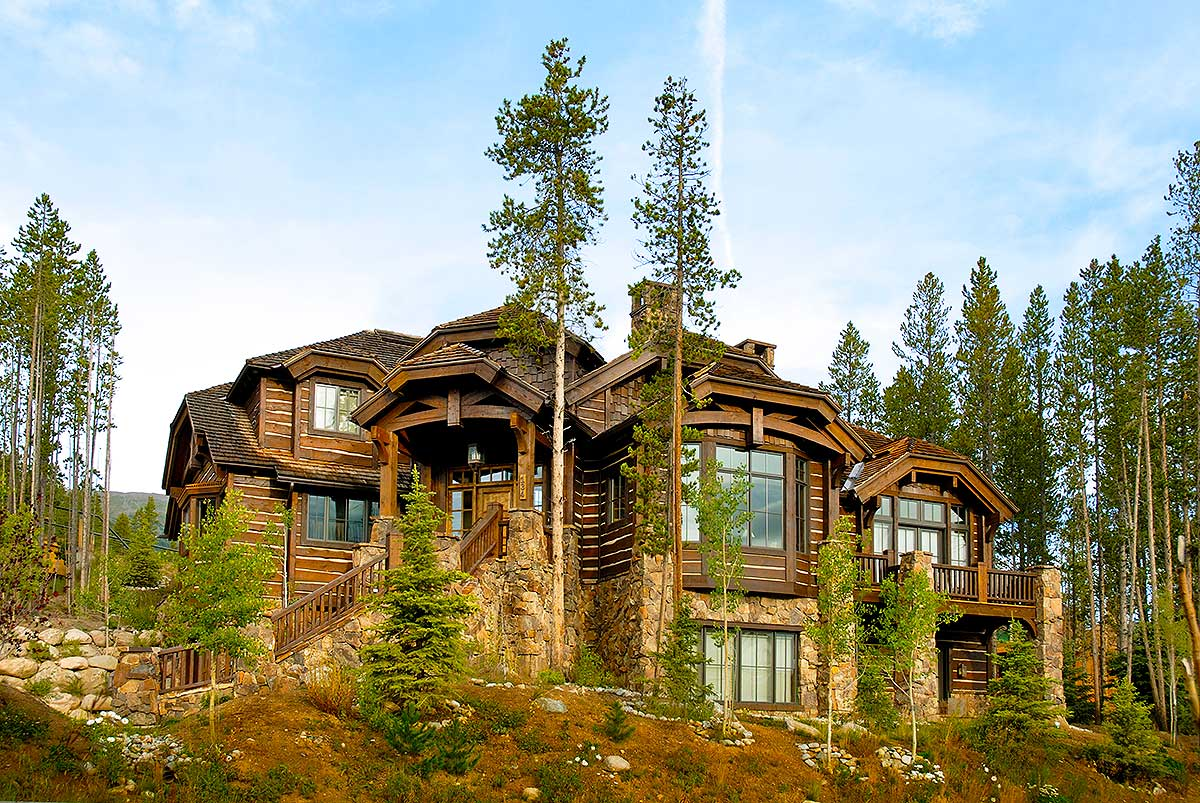 Architectural Home Plans Luxury: Luxury Mountain Retreat - 11574KN