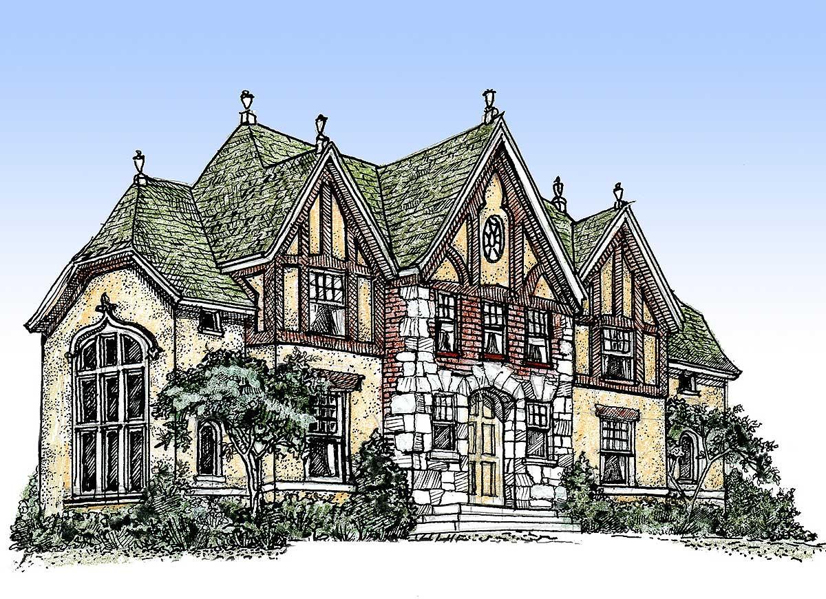 Impressive English Tudor 11603gc Architectural Designs House Plans