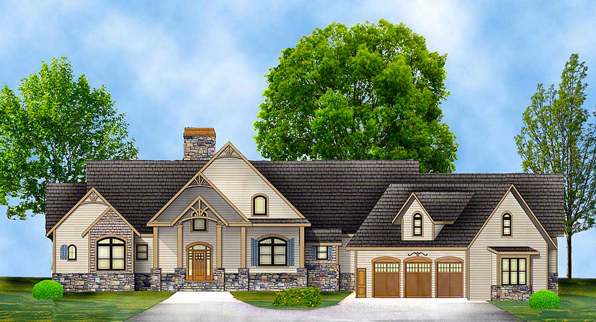 Rustic Ranch With In-law Suite - 12277JL