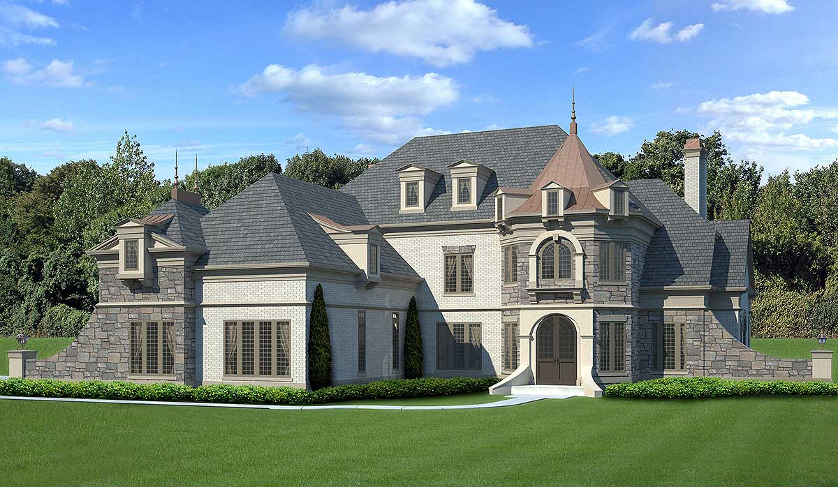 Architectural Home Plans Luxury: Castle-like Luxury House Plan - 12294JL
