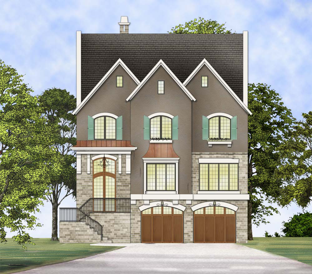 Home Design Plans Video: Upscale Three-Story Traditional House Plan