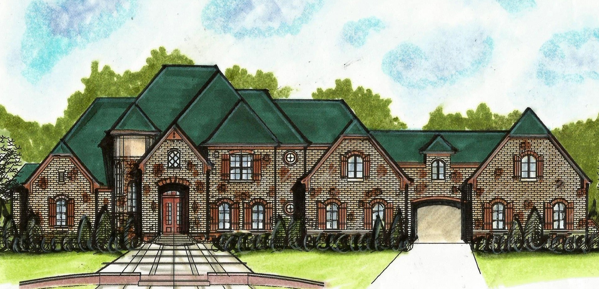 European House Plan With Porte Cochere 13498by