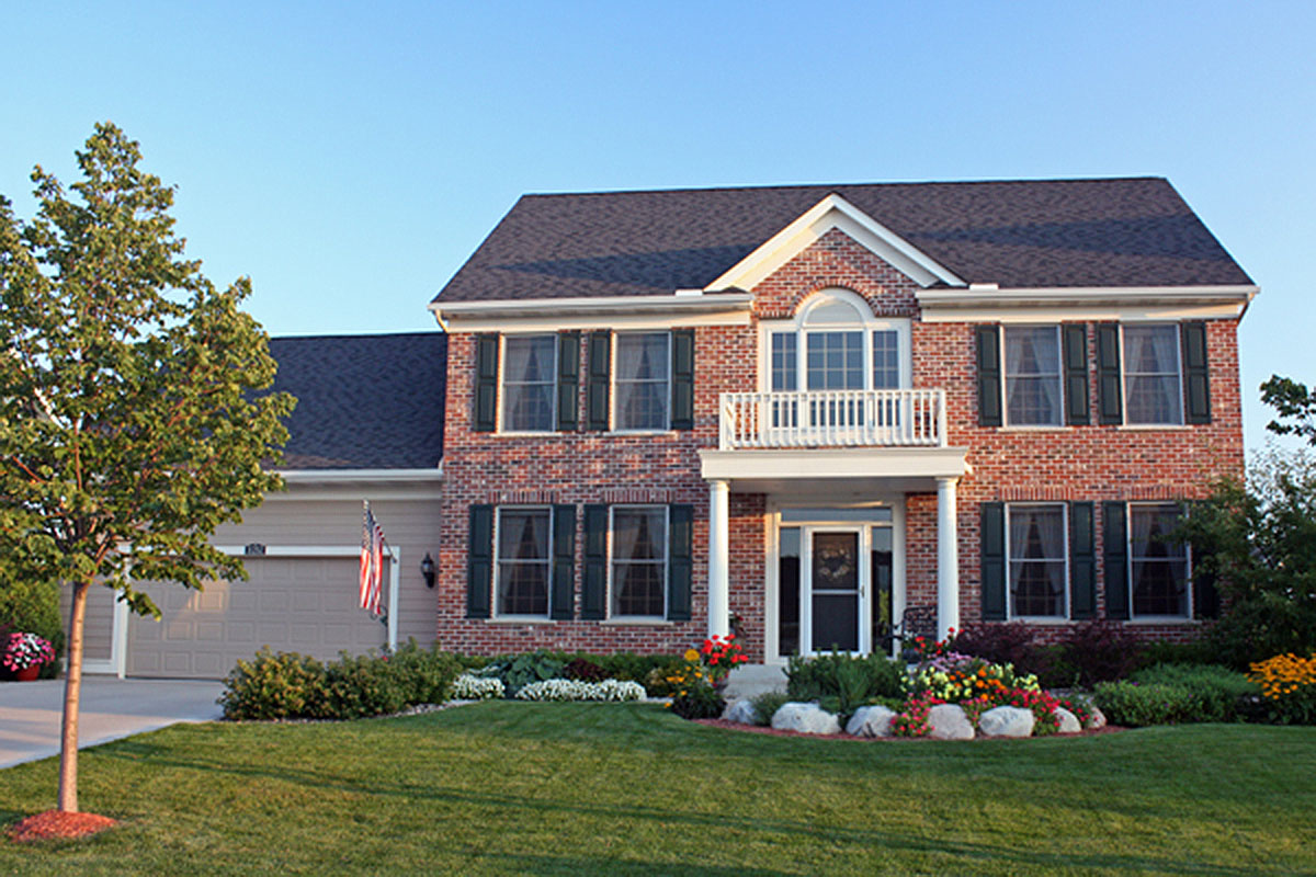 Center Hall Colonial 14473rk Architectural Designs