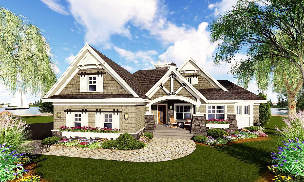 Craftsman Home Flex Room Architectural Designs House Plans