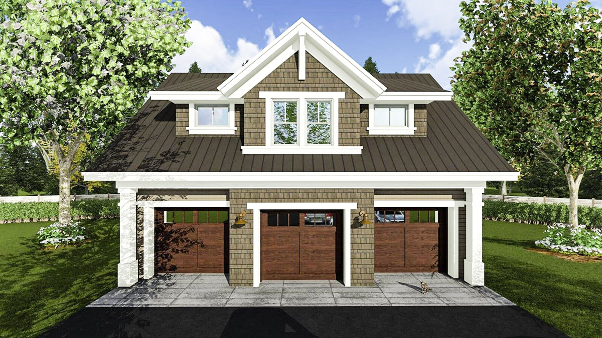 3 Car Garage Apartment With Class 14631rk