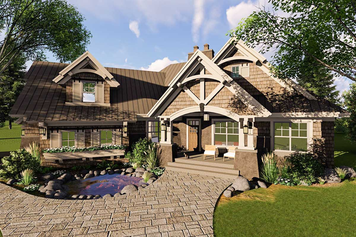 Craftsman House Plan with Magnificent Curb Appeal ...