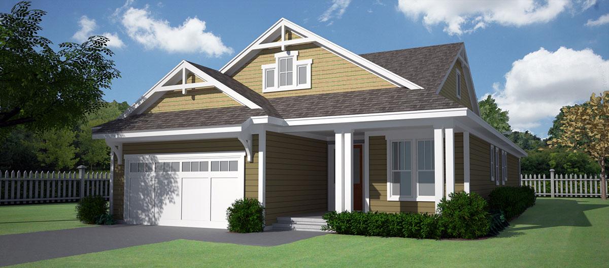 Craftsman House Plan With Open Floor Plan