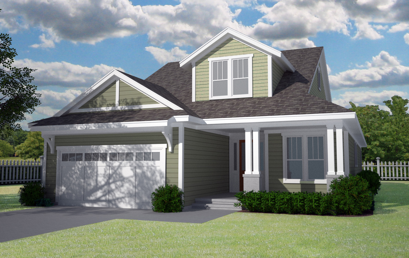 Craftsman House Plan with Open Floor Plan - 15079NC ...