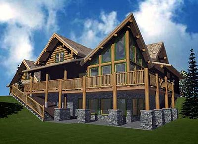 Atypical_Log_Home_Plan