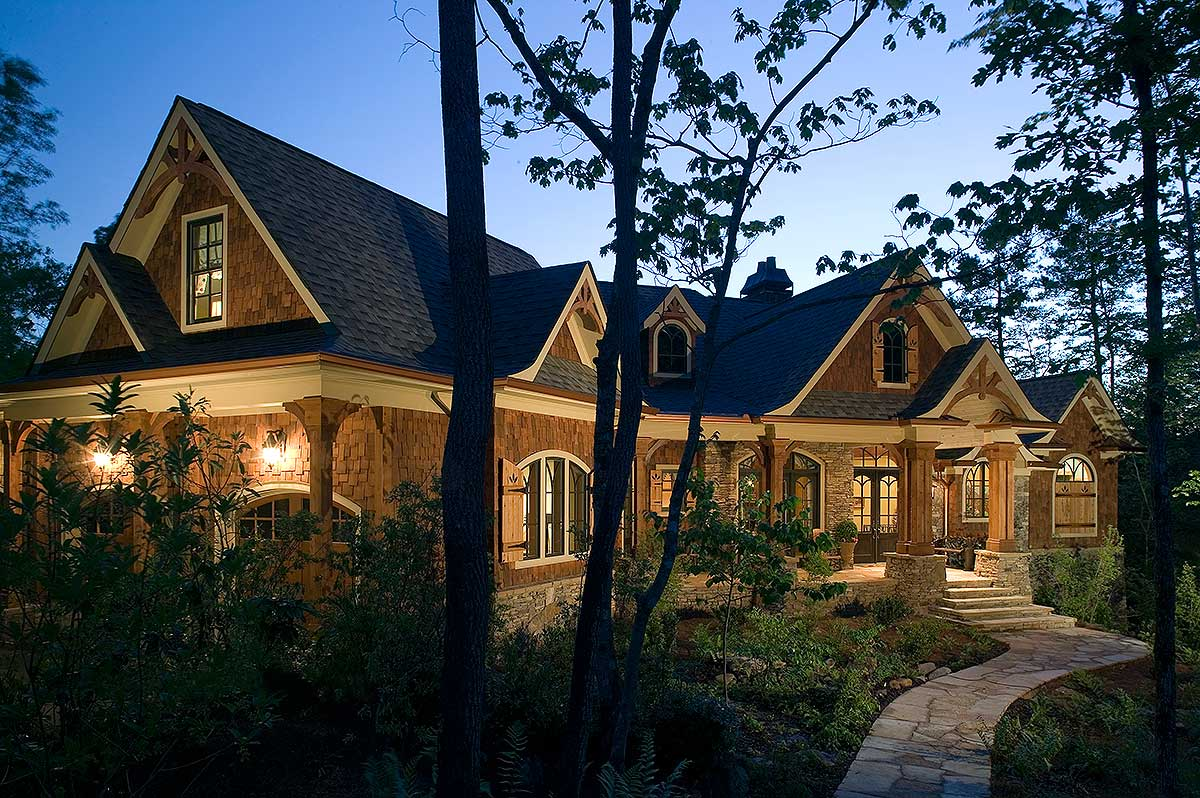 Stunning Rustic Craftsman Home Plan