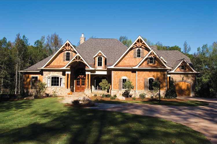 Luxury Craftsman Retreat - 15696GE   Architectural Designs ...