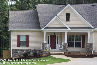 House Plan 15883GE comes to life in South Carolina - photo 002