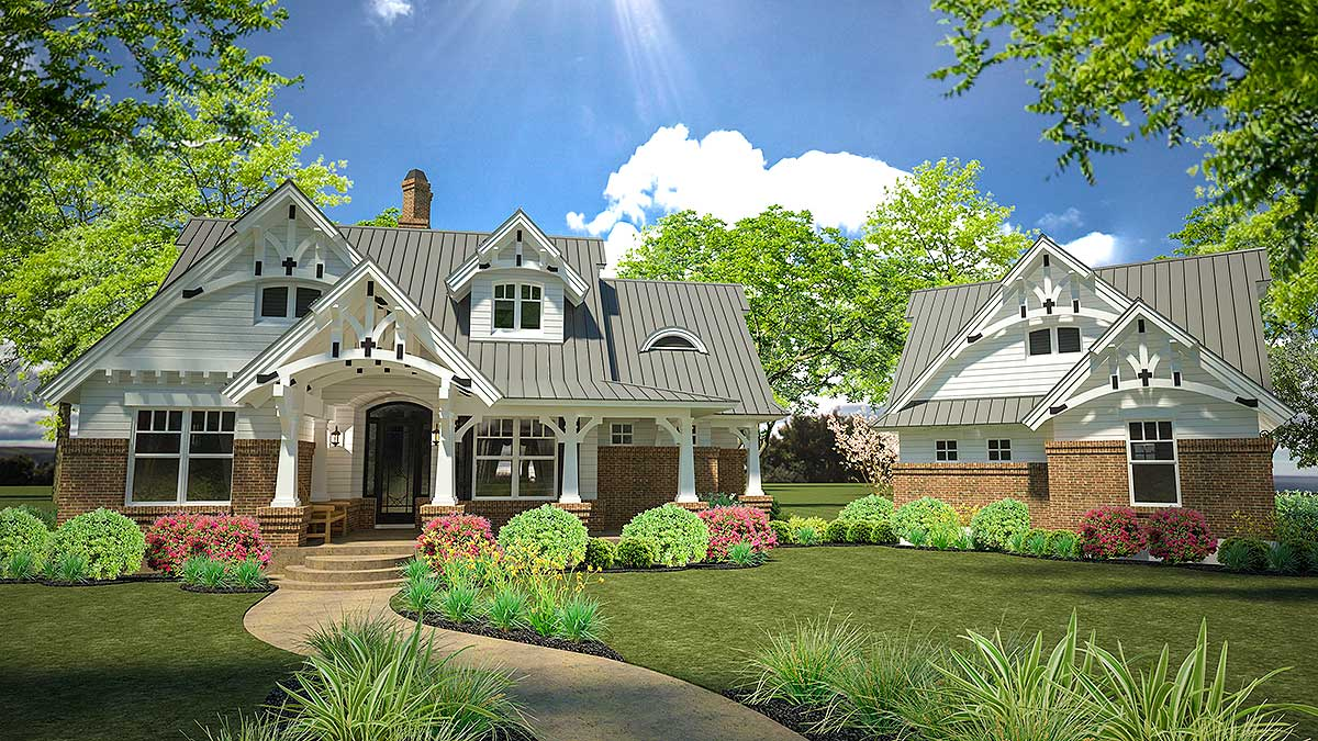 Rustic Look with Detached Garage 16812WG Architectural