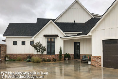 House Plan 16853WG comes to life in Texas! - photo 004