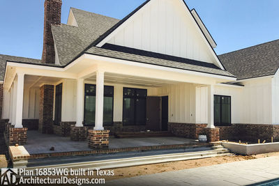 House Plan 16853WG comes to life in Texas! - photo 005