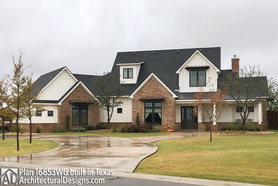 House Plan 16853WG comes to life in Texas! - photo 002