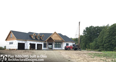 House Plan 16860WG comes to life in Ohio! - photo 002