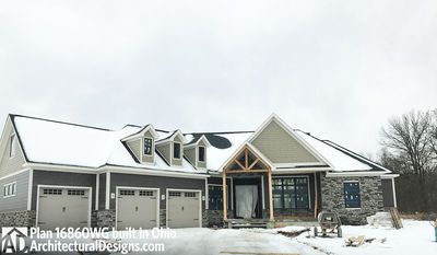 House Plan 16860WG comes to life in Ohio! - photo 001