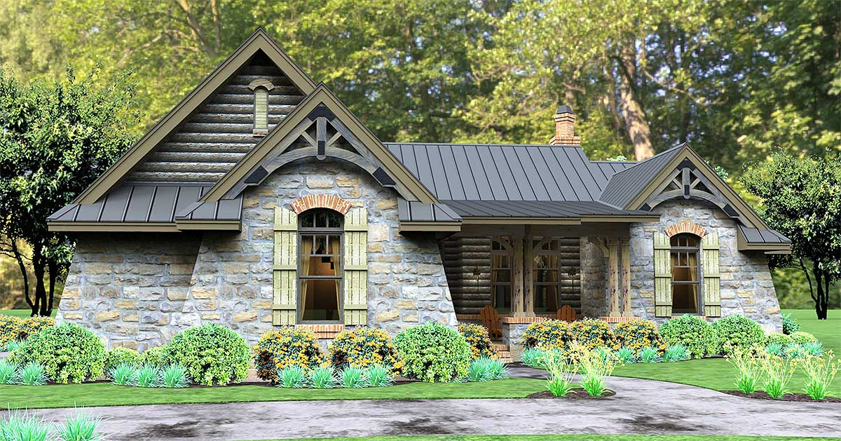 Rugged Rustic 3 Bedroom Home Plan - 16863WG | Architectural Designs ...