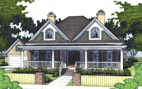 T Shaped Front Porch 16879wg Architectural Designs