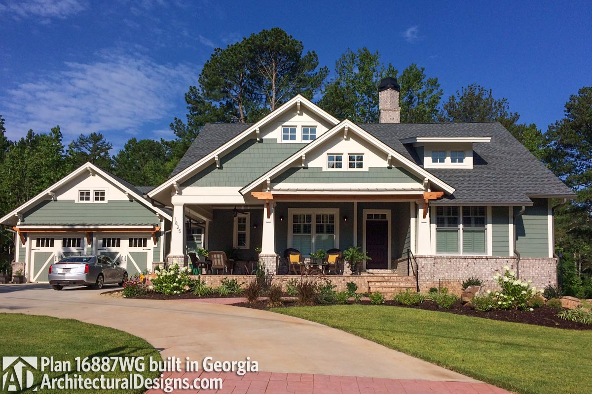 3 Bedroom House Plan With Swing Porch - 16887WG ...