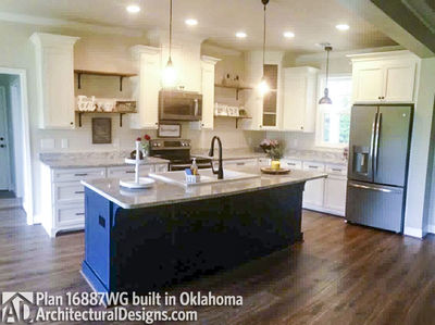 House Plan 16887WG comes to life in Oklahoma! - photo 005