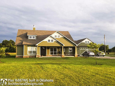 House Plan 16887WG comes to life in Oklahoma! - photo 003
