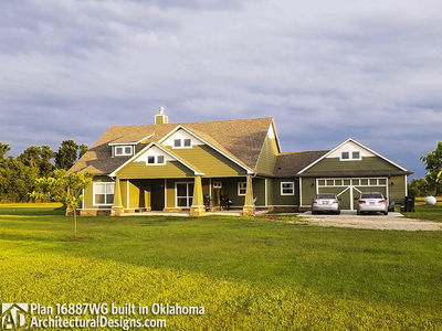 House Plan 16887WG comes to life in Oklahoma! - photo 002