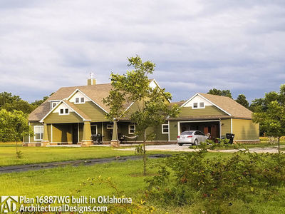 House Plan 16887WG comes to life in Oklahoma! - photo 001