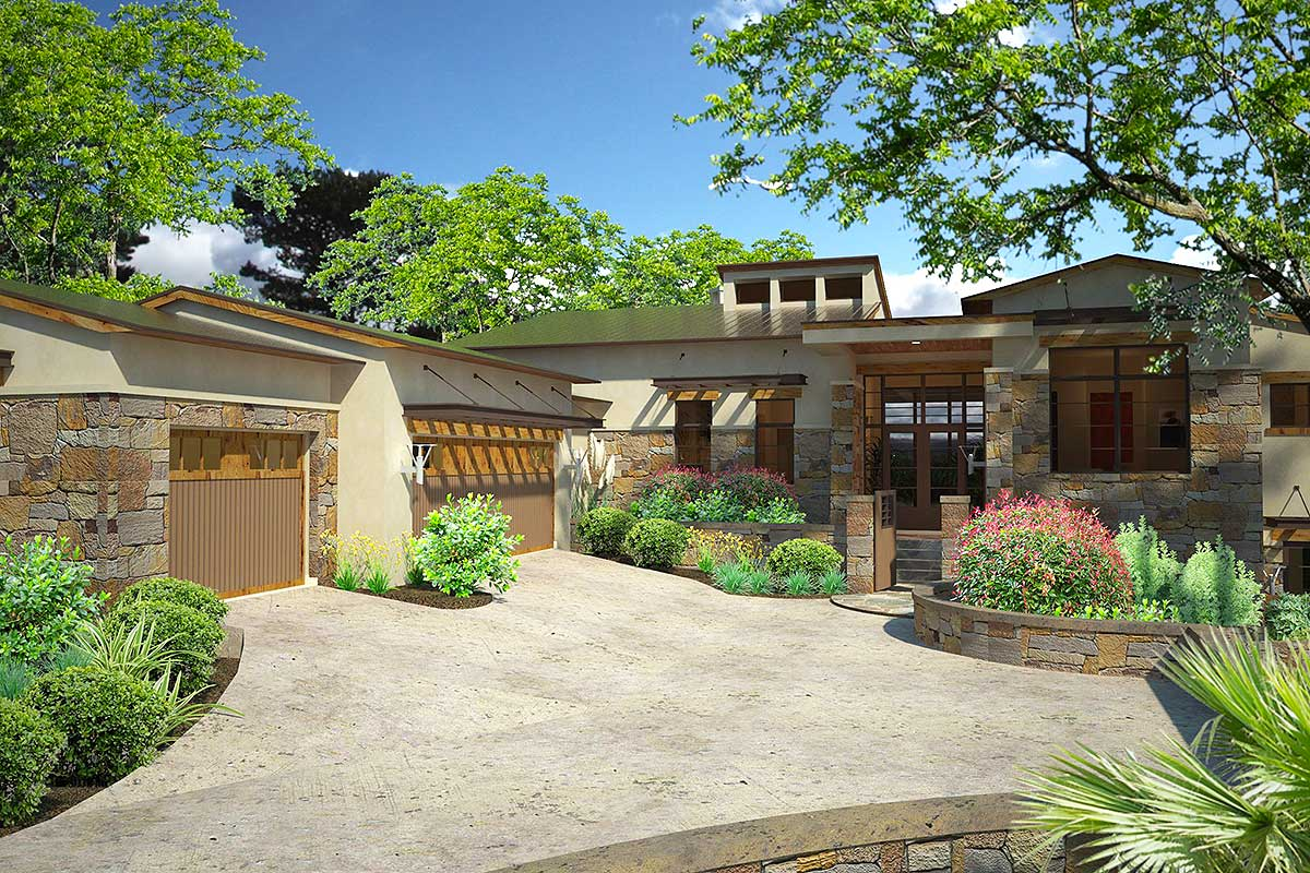 Contemporary Hill Country House Plan - 16888WG ...