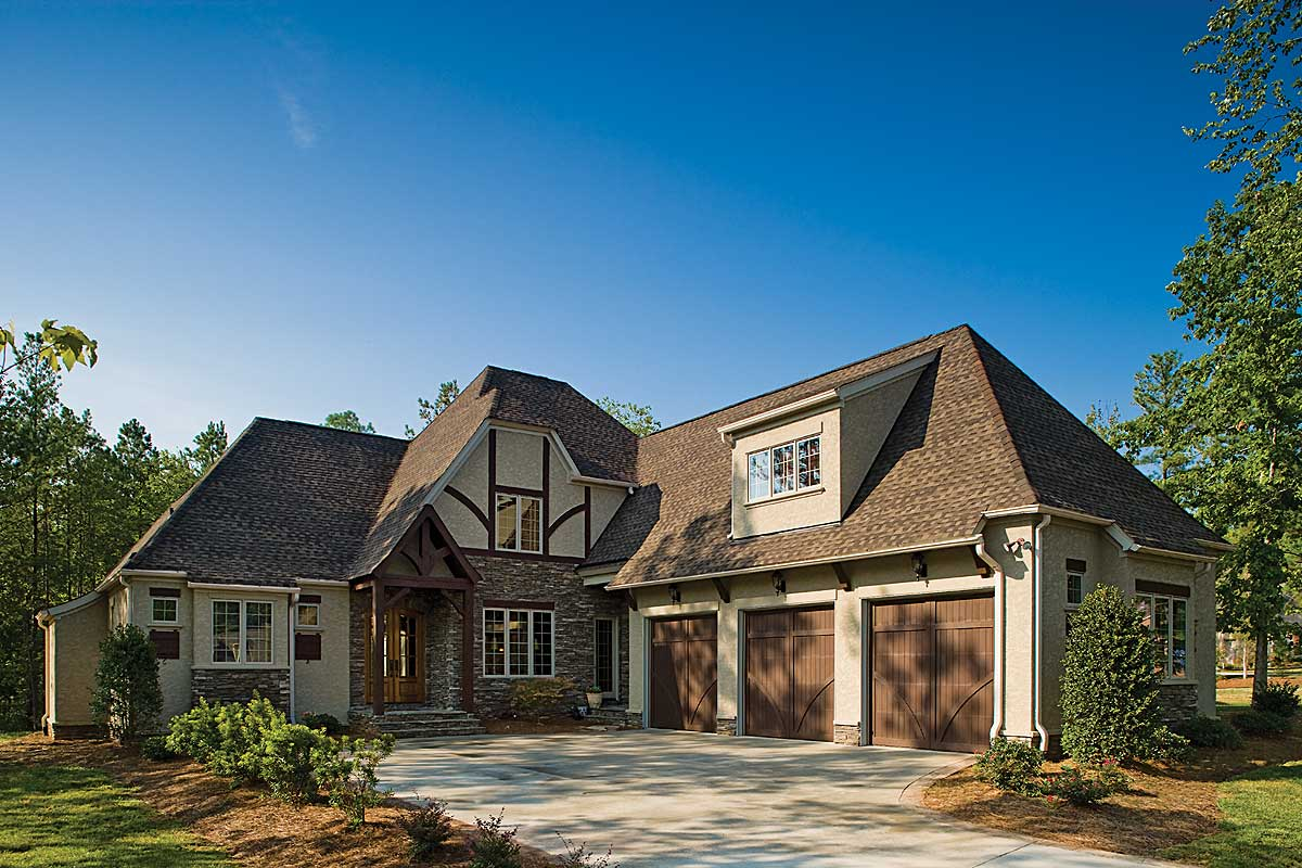 Stone and Stucco - 11506KN | Architectural Designs - House ... |Stucco House Designs