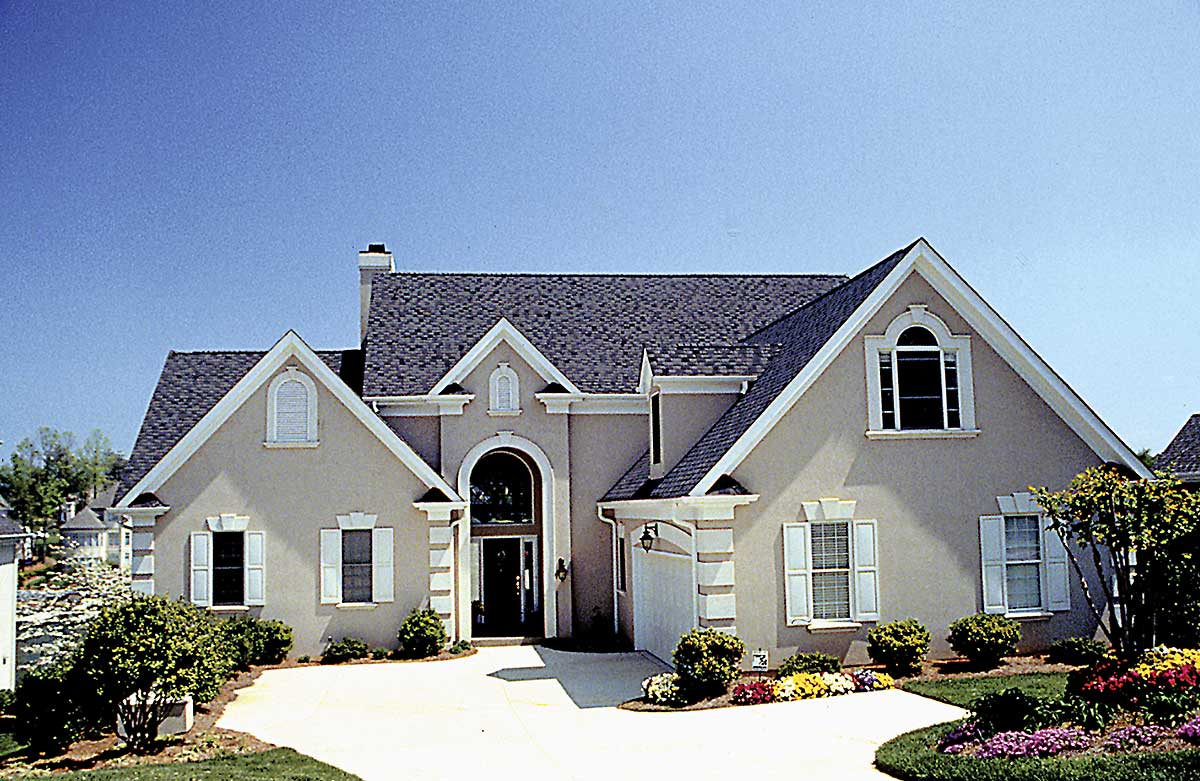 Stone & Stucco European Dream Home - 17502LV ... |Stucco House Designs