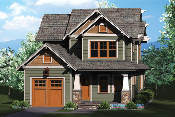 Rustic Craftsman Home Plan 17737lv Architectural