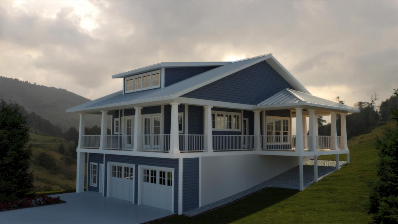 Tiny Home Designs: 2 Bedroom Vacation Getaway - 18234BE