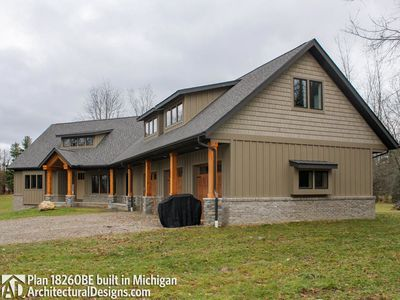 House Plan 18260BE comes to life in Michigan - photo 002