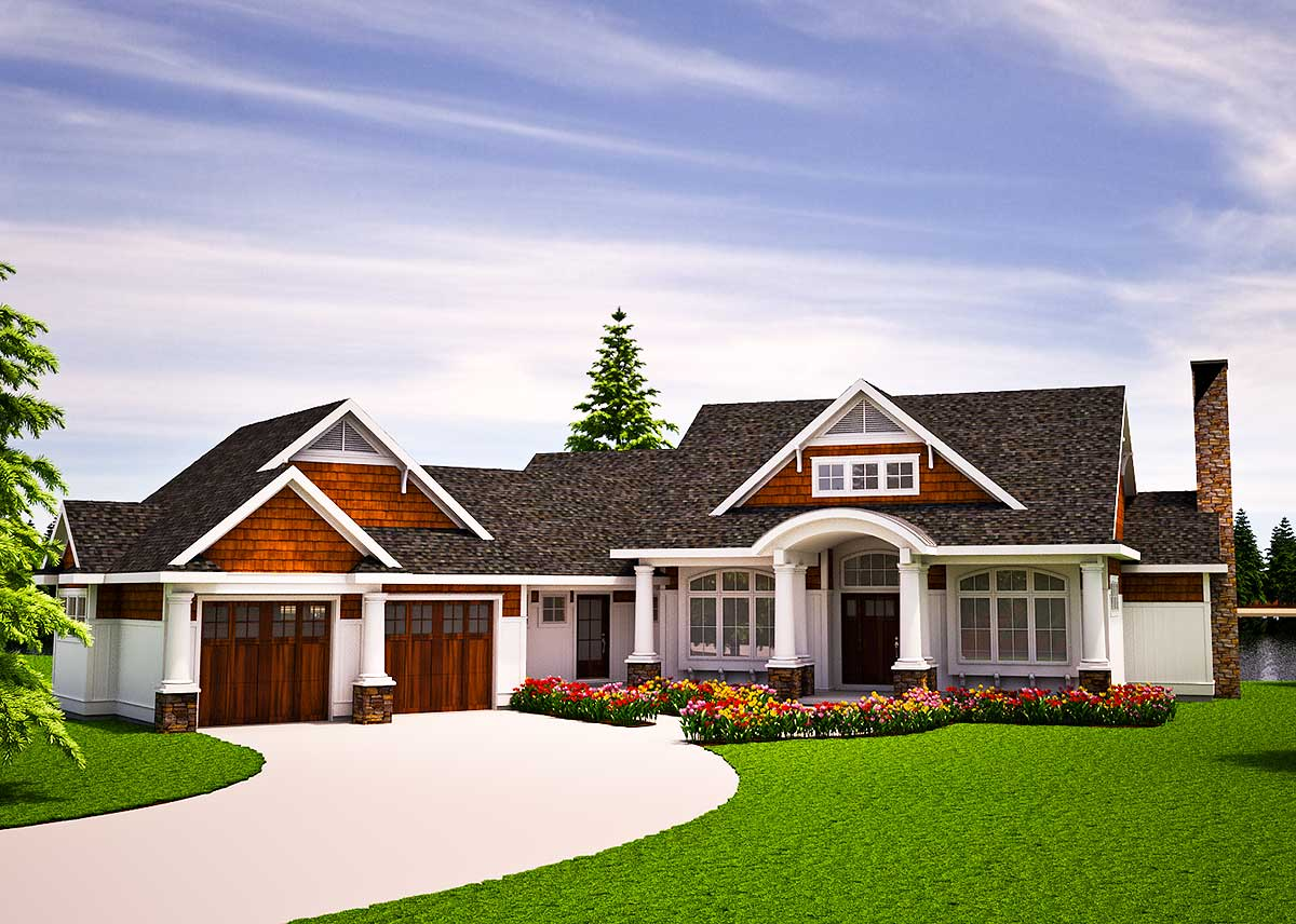 Tiny Home Designs: One Level Vacation Home Plan - 18262BE