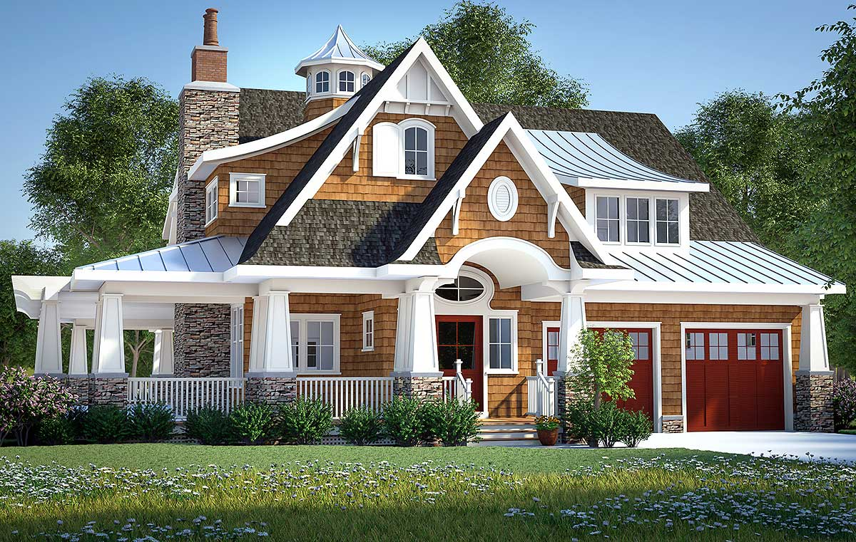 Gorgeous Shingle-Style Home Plan - 18270BE