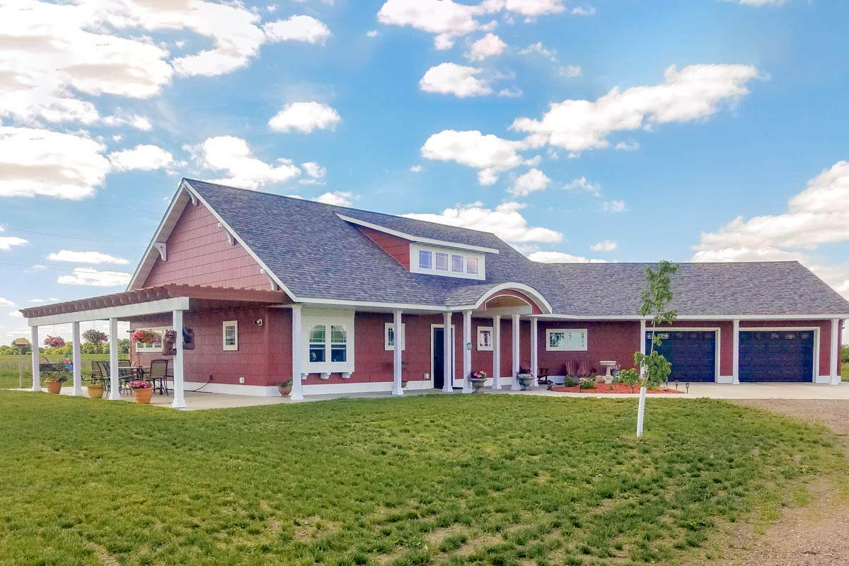 Attractive Angled Ranch Home Plan - 18271BE ...