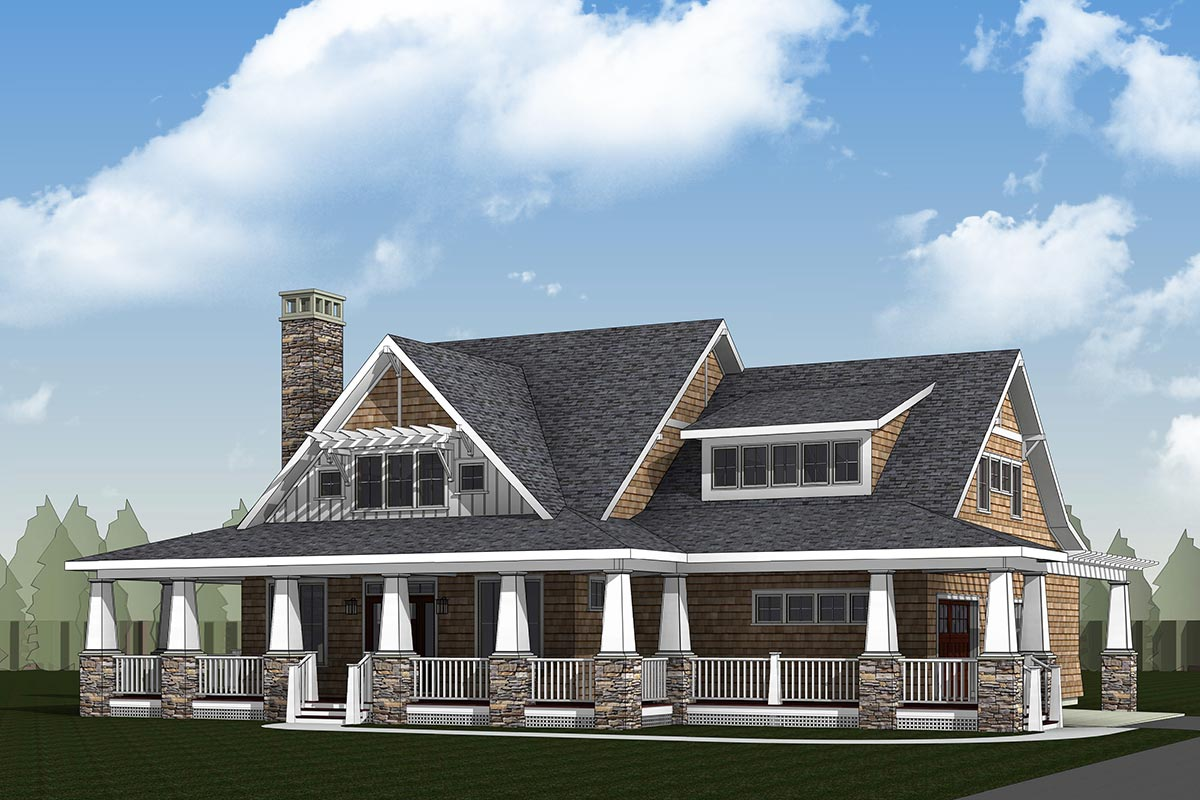 Storybook Country House Plan With Sturdy Porch