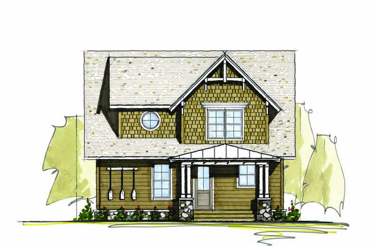 Three Bedroom Vacation Home Plan - 18764CK | Architectural ...