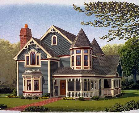 Queen Anne Style - 19218GT   Architectural Designs - House Plans on house plans with hidden rooms, house with a bow on it, house plans with turrets, house plans with 6 bedrooms, small house plans with porches, house plans with basements, house plans with deck porches, houses with large porches, cottage house plans with porches, house plans with front porches, house attached patio roof plans, house plans with metal roofs, house plans with two master suites, house plans with drive through portico, one story house plans with porches, southern house plans with porches, house plans with detached guest house, house plans with a view, house plans one story open floor plan, houses with back porches,