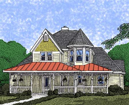 Picturesque Front Veranda - 1980GT | Architectural Designs ...