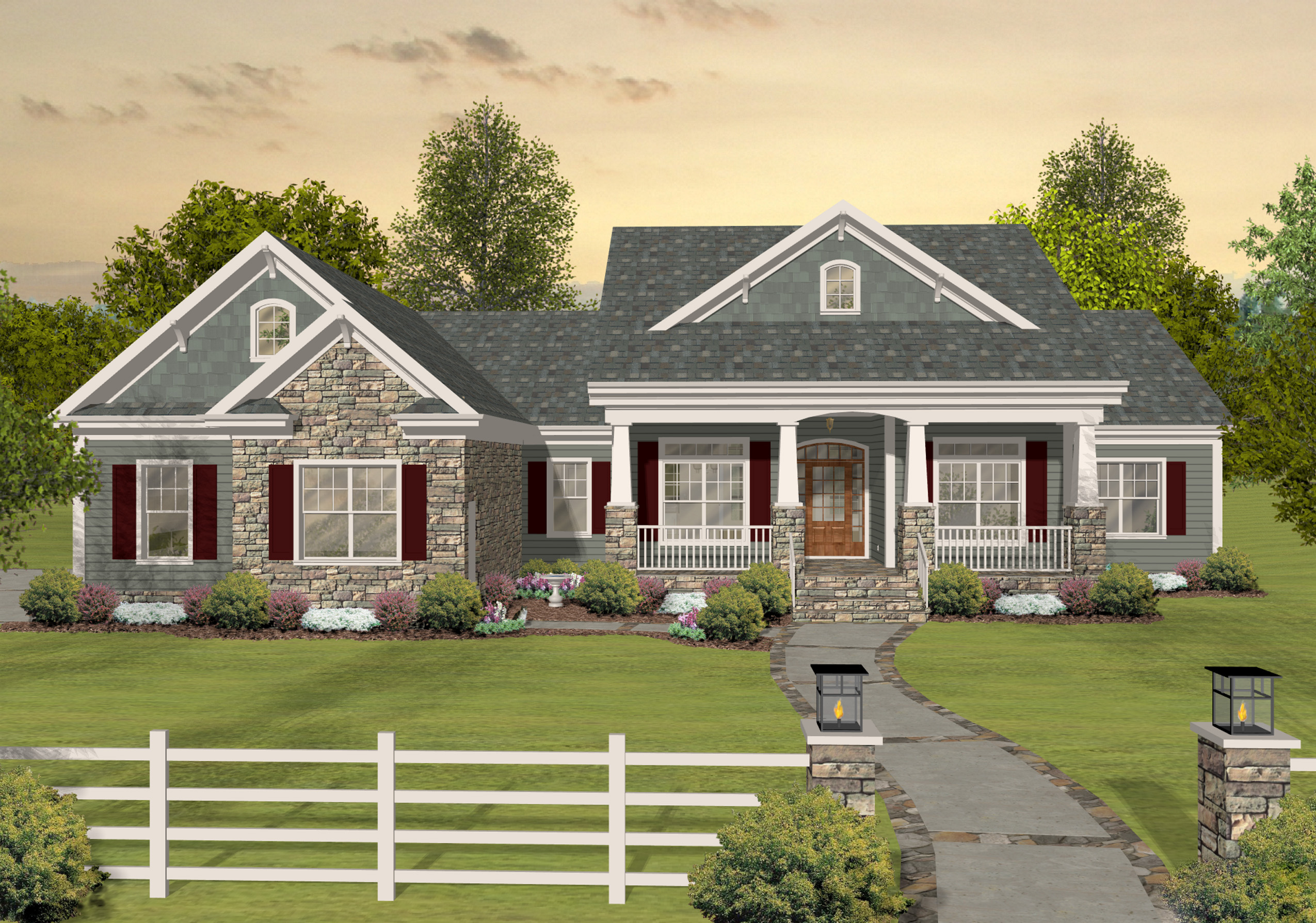 Flexible ranch with loaded optional lower level 20078ga architectural designs house plans