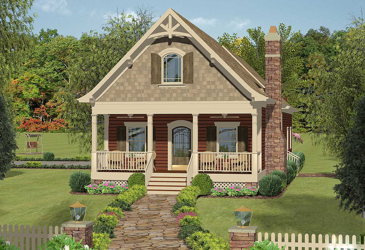 Narrow Lot Cottage with In Law Suite 20079GA