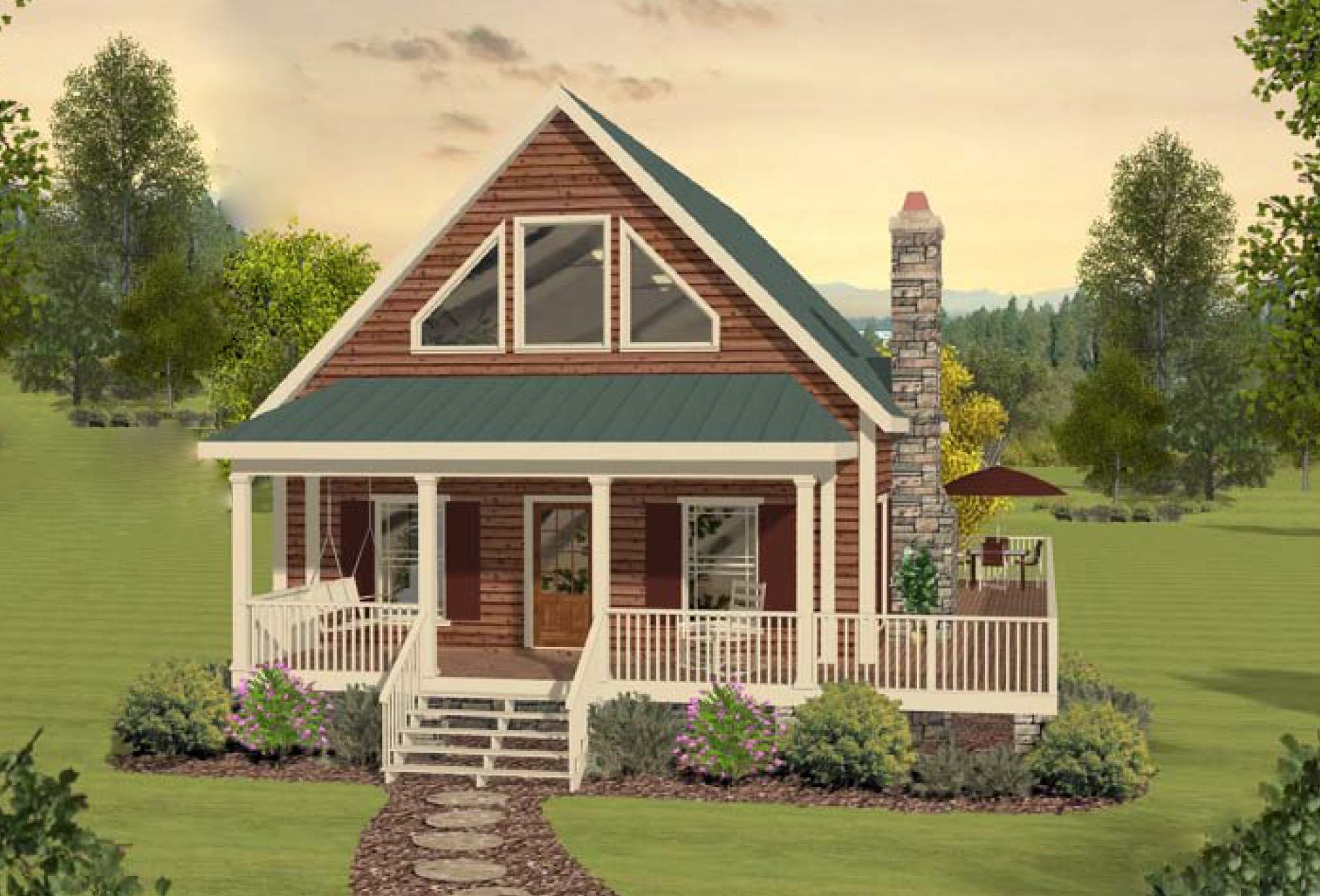 Two-Bedroom Cottage Home Plan - 20099GA | Architectural ...