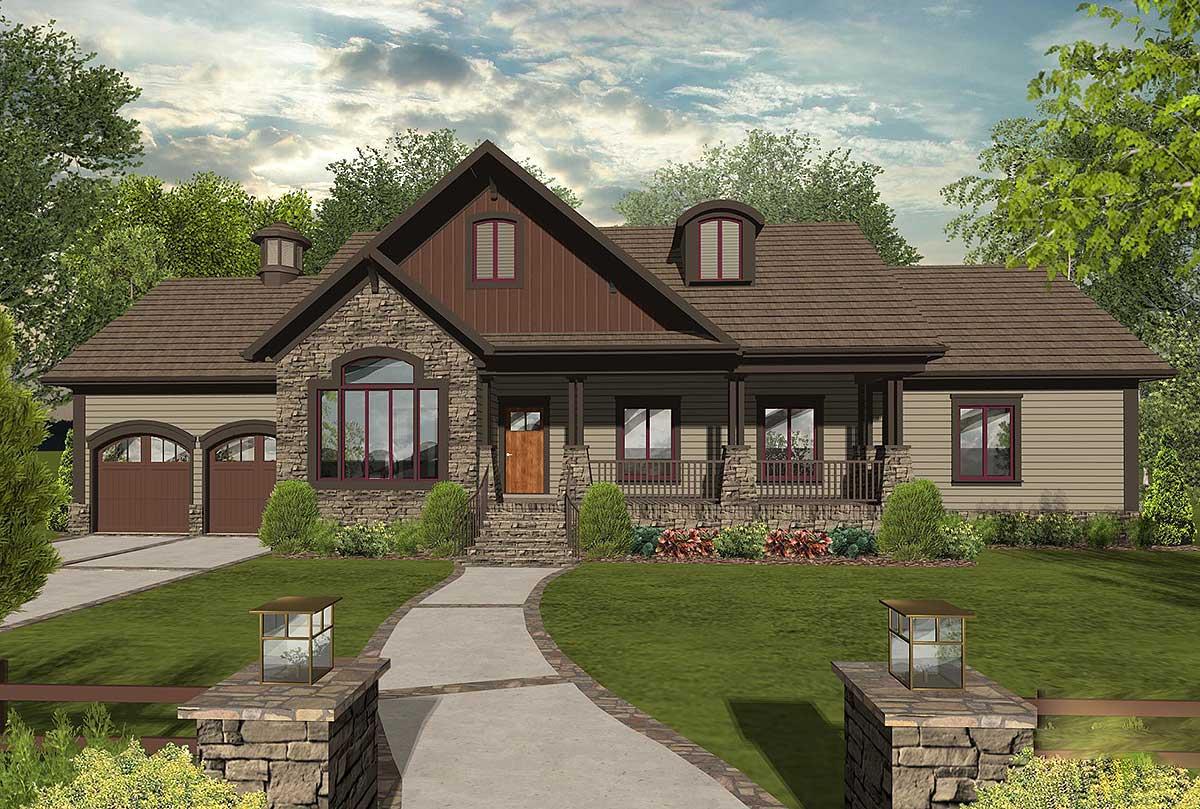 Innovative 3 Bedroom Craftsman Ranch Home Plan - 20105GA ...
