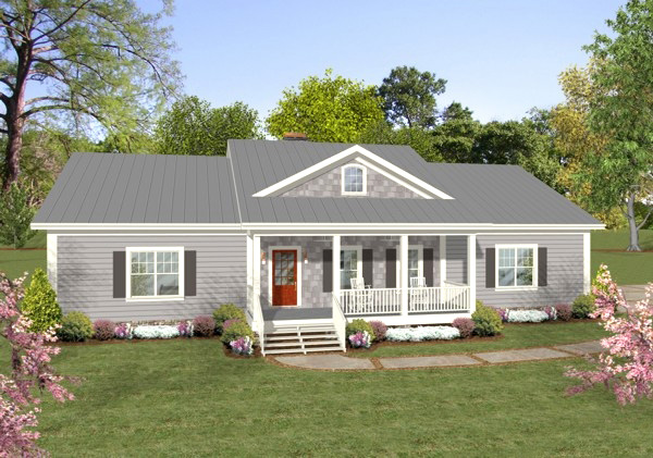 Ranch Home With Country Kitchen 20117ga Architectural