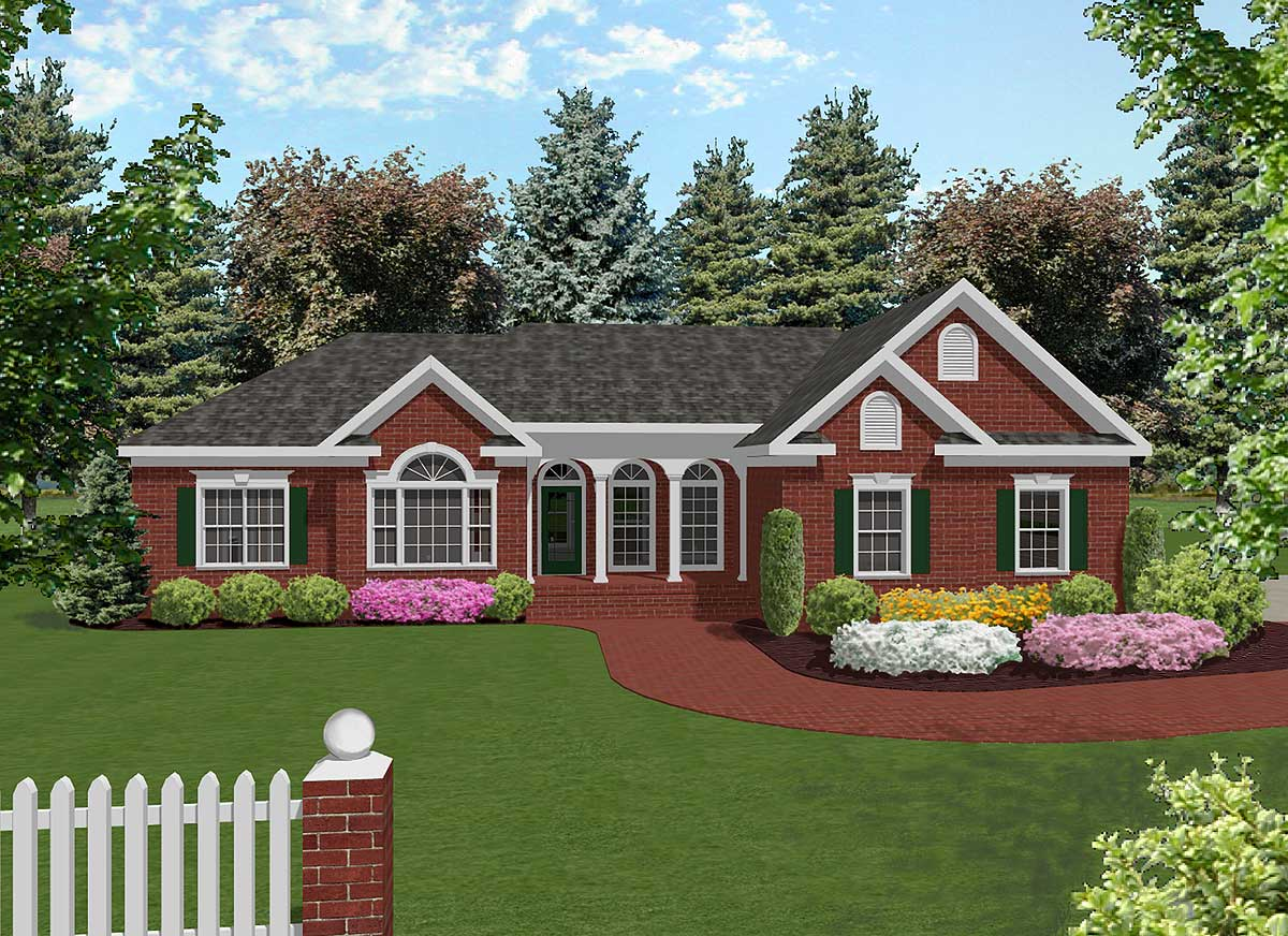 Attractive mid size ranch 2022ga architectural designs - What is a ranch house ...
