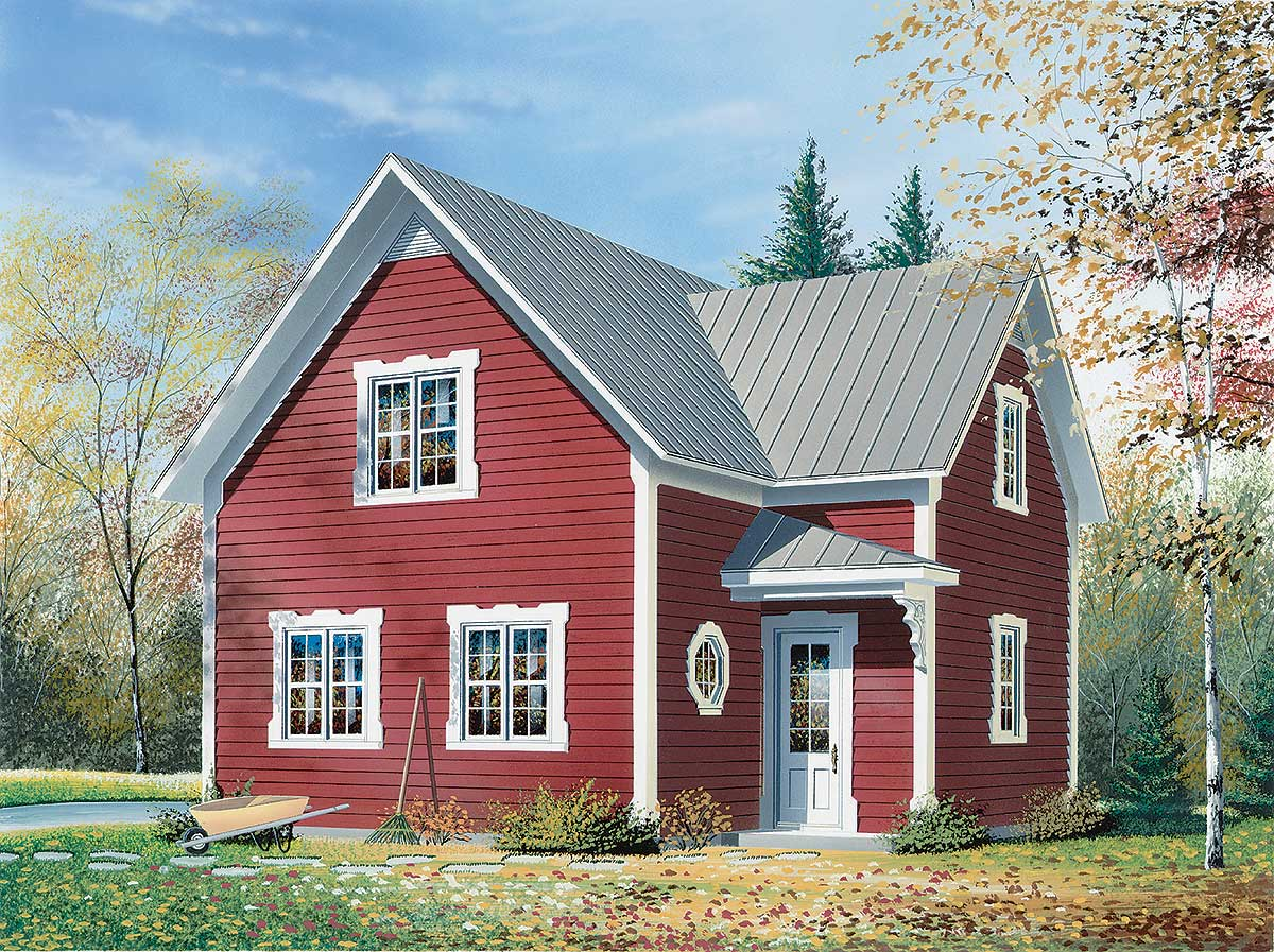 Two-Story Traditional House Plan - 2116DR